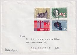 334-337 / Michel 653-656 Satz-Brief Gelaufen Von Bern Bundeshaus Nach Frankfurt A. M. - Cartas