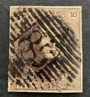 Epaulet 1 - 10c Gestempeld P85 NAMUR - 1849 Epauletten