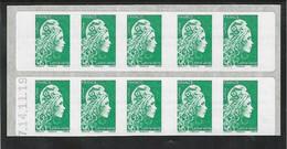 VARIETE ERREUR TEXTE LP Carnet Sagem Daté 14.11.19 Marianne L'engagée - Definitives