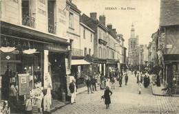 BERNAY  Rue Thiers Commerce Gros Plan RV - Bernay