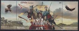 2021-ED. 5469 SELLO CON VIÑETAS -. Ocio Y Aficiones. Parque Temático Puy Du Fou España  - USADO - 2011-... Used