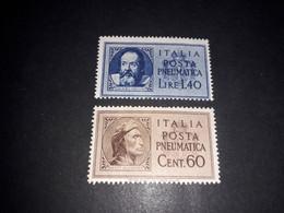 "A8MIX27 REGNO D'ITALIA LUOGOTENENZA 1945 TIPI DEL 1933 SENZA FASCI SERIE 2 VALORI ""X"" - Mint/hinged"
