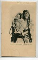INDIENS D'Amérique  Carte RARE  Blackfoot Sqaw And Papoose N.W.T -1904 Cachet Départ Vancouver D09 2021 - Native Americans