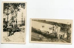 INDIENS D'Amérique 2 Photographies ( 6,4 Cm X 10,7 Cm )  Enfant Indien Johnie Wigwag Et Indiens Promanade Joli  D09 2021 - Native Americans