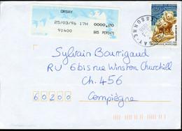 N° 2988 (1996) - Cachet Manuel D'Orsay (91) - Complément D'affranchissement LSA - 1961-....