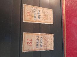 Timbres Affiches Locaux Viille De ST ETIENNE 36c  72c - Fiscaux