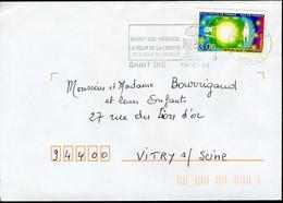 N° 2996 (1996) - Flamme De Saint Dié (88) - 1961-....