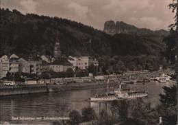 Bad Schandau - Mit Schrammsteinen - 1964 - Bad Schandau