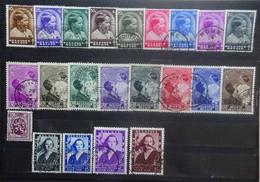 BELGIE  1936-37     Nr. 438 - 445  +  446  / 447-454 : 455 / 456 - 457 B      Gestempeld     CW 36,00 - Gebruikt