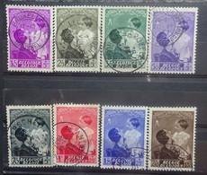BELGIE  1937     Nr. 447 - 454      Gestempeld     CW 14,00 - Gebruikt