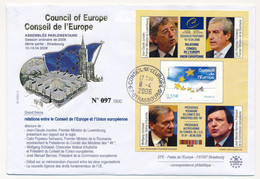 Env Affr 0,55E C.E Cad Conseil De L'Europe Strasbourg, 11/04/2006 - J.C. JUNCKER, ... J.M. Barroso ... - Lettres & Documents