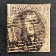 Medaillon 6 - 10c Gestempeld P128 WAEREGHEM - 1851-1857 Medaglioni (6/8)