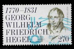 Bund 2020,Michel# 3560 O Georg Wilhelm Friedrich Hegel(1770-1831), 250. Geburtstag - Gebraucht