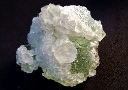 Fluorite With Calcite ( 3 X 3 X 2 )Xianghualing Mine, Xianghualing Sn-polymetallic Ore Field -  Chenzhou, Hunan -  China - Minerali