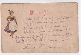 Vorläufer Grusskarte - 1894 !!          (P-319-01110) - Greetings From...