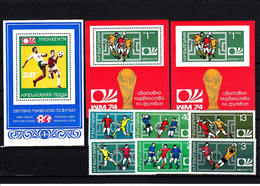 Soccer World Cup 1974 - Football - BULGARIA - LOT With Imp. MNH - 1974 – Alemania Occidental