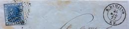 PIEMONTE - S.DAMIANO S.F.24 GIUY 77 D.c.+ Punti Su 20 C. - Piego Per  BALDISSERO D'ALBA D.c. Al Retro - Marcophilia