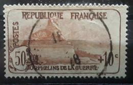 France 1926 ORPHELINS DE LA GUERRE,Yvert 163 ,50 C + 10 C Lion De Belfort Obl Centrale  ,TB Cote 15,50 Euros - Sinking Fund
