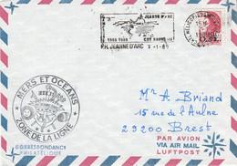 LETTRE DU PORTE HELICOPTERES JEANNE D'ARC 1989 - Matasellos Conmemorativos