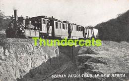 CPA GERMAN PATROL TRAIN DEUTSCH SUDWEST ARIKA DSW ARIQUE NAMIBIA NAMIBIE - Namibia