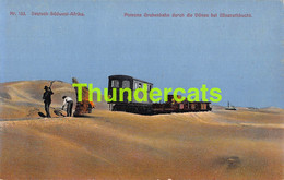 CPA  POMONA GRUBENBAHN DURCH DIE DUNEN BEI ELISABETHBUCHT TRAIN DEUTSCH SUDWEST ARIKA DSW ARIQUE NAMIBIA NAMIBIE - Namibia