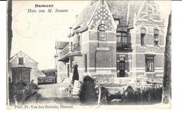 HAMONT : Huis Van M. SOMERS - Circulée En 1905 - Phot. Fr. Van Den Bossche, Hamont - 2 Scans - Hamont-Achel