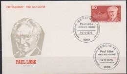 Berlin FDC1975 MiNr 515  100.Geb. Paul Löbe (d 2147 ) Günstige Versandkosten - FDC: Covers