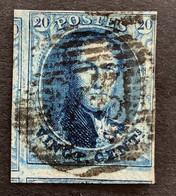 Medaillon 7 - 20c Gestempeld P24 BRUXELLES - 1851-1857 Medallions (6/8)