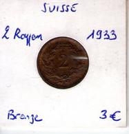 Suisse. 2 Rappen 1933 - Switzerland