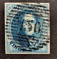 Medaillon 7 - 20c Gestempeld P156 CHENEE - 1851-1857 Medaillen (6/8)