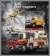 LIBERIA 2020 MNH Fire Engines Feuerwehr Fahrzeuge Camions De Pompiers S/S - OFFICIAL ISSUE - DHQ2115 - Bombero