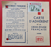 54 LONGWY Carte Adherent CROIX - ROUGE FRANCAISE 1955 Tampon Timbre Non Oblitere - Other