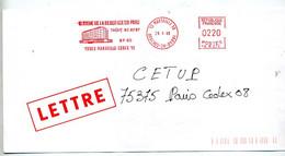 Lettre Flamme Ema Marseille Clinique Du Parc - EMA ( Maquina De Huellas A Franquear)