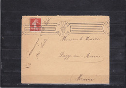 Lettre Du 13 Janvier 1913 Au Départ De Reims Pour Magenta-Dizy (Marne) - Achat Immédiat - Maschinenstempel (Sonstige)