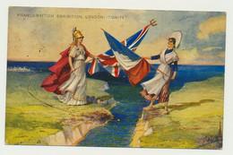 """Franco British Exhibition - London """"UNITY"""" - Carte Officielle (noté Au Dos) - Militaire - Patriotique - Exposiciones"""