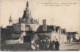 49 - LA MENITRE Chapelle Du Vieux Moulin Notre-Dame De Lourdes Animée - Other Municipalities