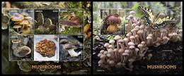 LIBERIA 2020 - Mushrooms, M/S + S/S Official Issue [LIB200311] - Mushrooms