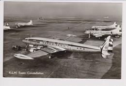 Vintage Rppc KLM K.L.M Royal Dutch Airlines Constellation, Convair @ Schiphol Amsterdam Airport - 1919-1938: Between Wars