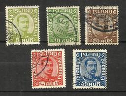 Islande N°105 à 109 Cote 50 Euros - Gebraucht