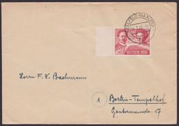 "MiNr. 229, Randstück Als EF, Bedarf ""Saalfeld"" - Sovjetzone"