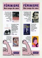 Marque-page - Pocket - Féminisme, Nos Coups De Coeur. Jouir, Femmes Et Pouvoir, Mythe De La Virilité, Abécédaire... - Bookmarks