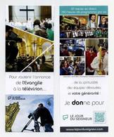 Marque-page. Le Jour Du Seigneur. Pour Soutenir L'annonce De L'Evangile à La Télévision... Religion, Spiritualité... - Bookmarks