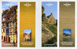 Lot De 2 Marque-page. Lonely Planet. Alsace Et Bretagne. Explorez La France Avec Lonely Planet - Bookmarks