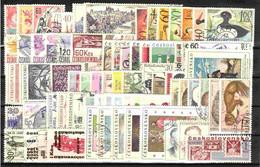 Tchécoslovaquie 1967 Mi 1674-1761+Bl.26-7 (Yv 1536-1614+BF 30-1+PA 61-7), Obliteré, L'année Complete - Años Completos