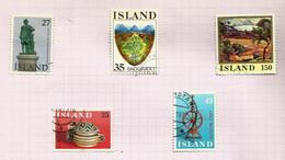 Islande N°464 à 468 Cote 5 Euros - Gebraucht