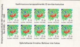 Finnland, 1991, 1129 Folienblatt , MNH **,  Freimarke: Pflanzen. - Nuevos
