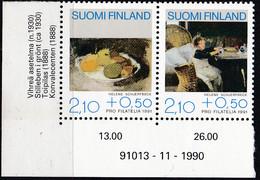 Finnland, 1991 1132/33  , MNH **,   Förderung Der Philatelie: Gemälde. - Nuevos