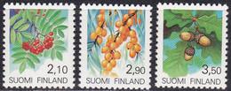 Finnland, 1991, 1126/28, MNH **,  Freimarken: Pflanzen. - Nuevos