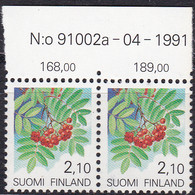 Finnland, 1991, 1126 MNH **,  Freimarken: Pflanzen. Eberesche, N:o 91002a - 04 - 1991 - Nuevos