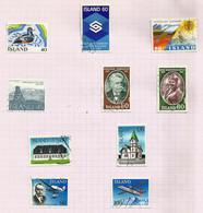 Islande N°477 à 486 Cote 7 Euros - Gebraucht